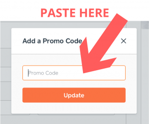 How to use a Caviar promo code step 2