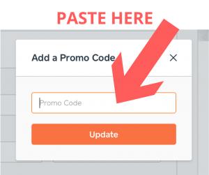 How to use a Caviar promo code step 2