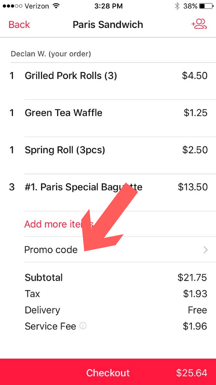 how to use a doordash promo code