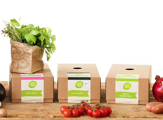 Food in boxes Hello Fresh vs Blue Apron