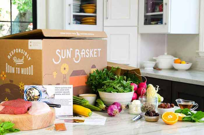 Meal delivery box and ingredients Sun Basket vs Green Chef