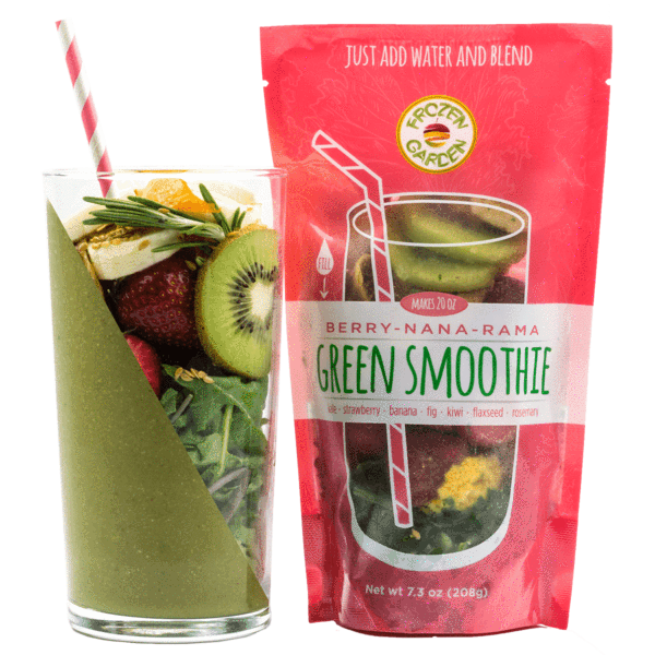 Frozen Garden berry-nana-rama frozen green smoothie