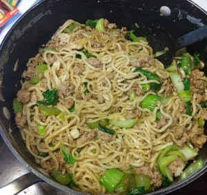 Pork & Vegetable Lo Mein from blue apron