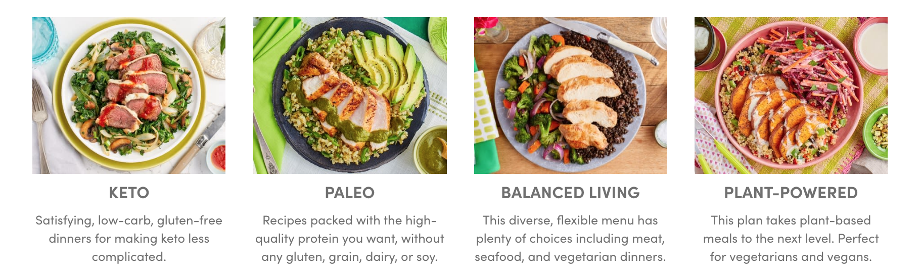 Green Chef menus compared to Blue Apron