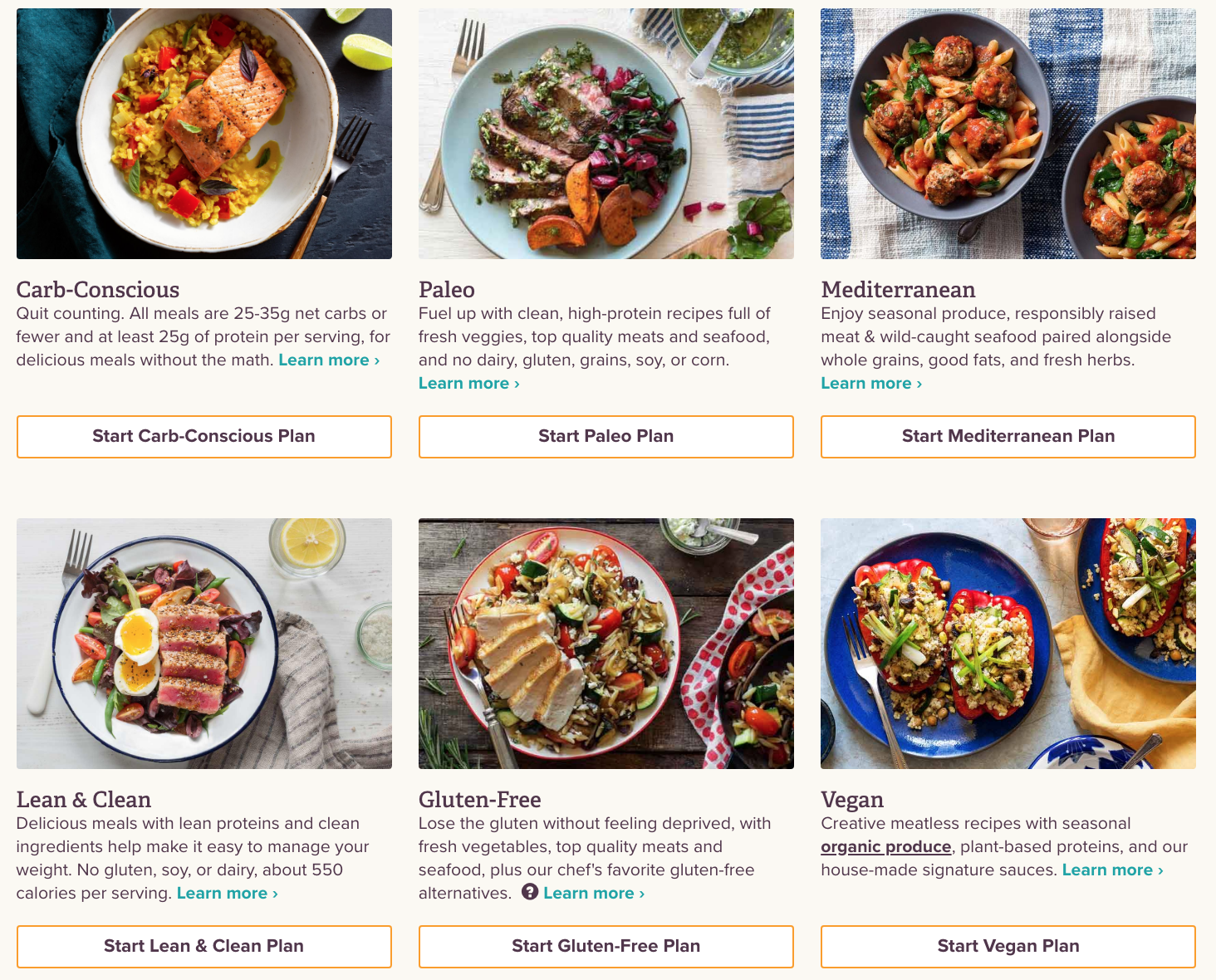 menus offered by blue apron competitor sun basket