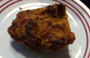 fried chicken reheated in a skiller