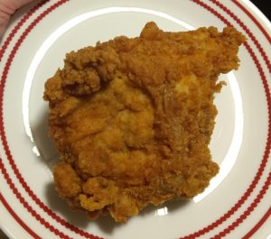 fried chicken reheated in the over