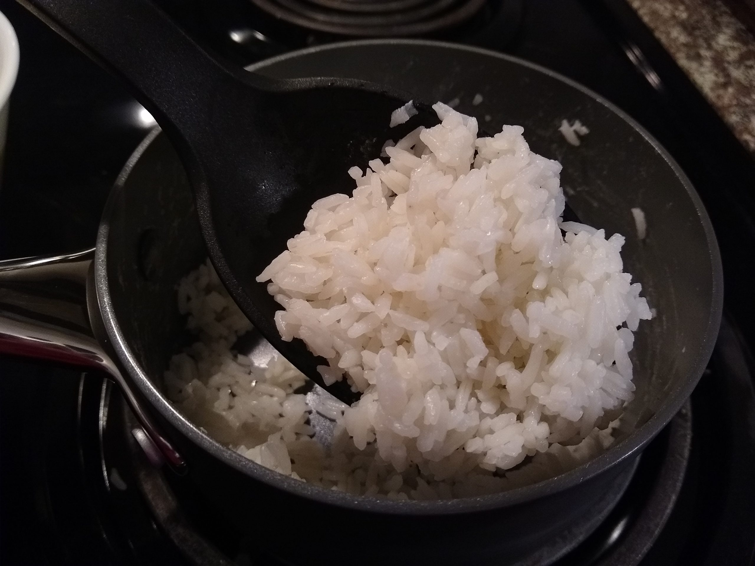 reheating rice on the stove