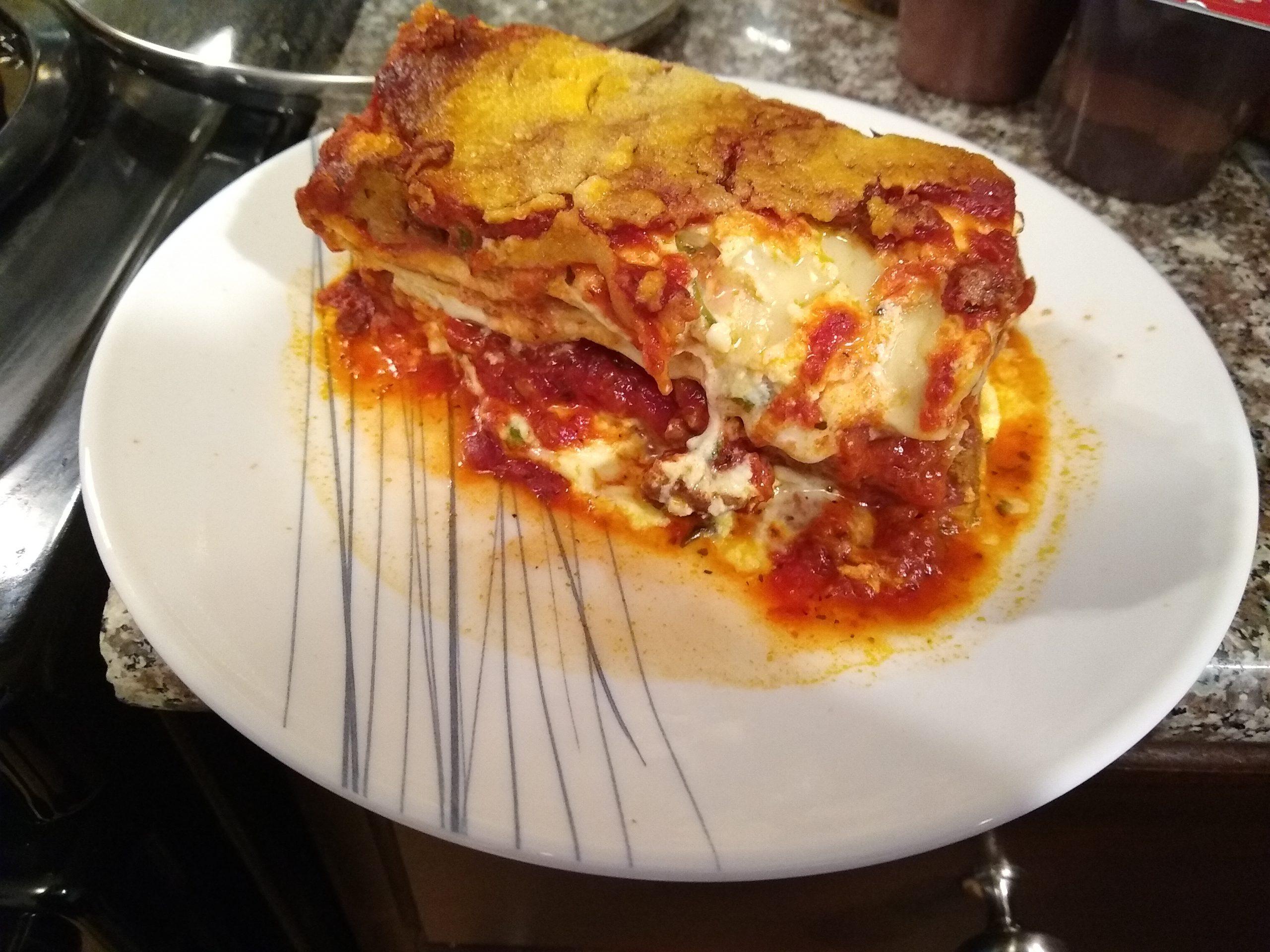 reheat lasagna microwave
